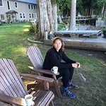 Tricia Having Morning Coffee With Amazing View Of Broken Island National Park