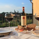 Dinner on the terrace Tuscan style