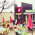 This is a photo of the Patio of Lone Star - Get there for your Mexican fix !!