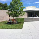 live music outside at the Clark Museum