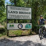 "Hikers, Bikers, and Equestrians merge at the ""Land Bridge"" to safely cross over I-75."
