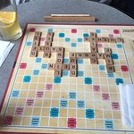 Le jeu de scrabble disponible au resto