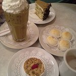 Yummy! Macaroons, Biscuit Tortoni, Tiramisu, Iced Mocha and Hot Chocolate