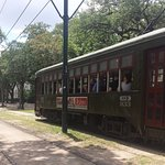 The streetcars in Garden District