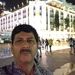 In the City Square in front of hotel