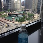 view from our room with Trump Tower water in the foreground (:))