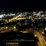 Night view of Nashville from hotel room