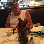 """WIfey with """"Jar O' Bacon"""" appetizer- always hits the spot :)"""
