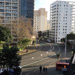View down Anzac Ave from Room 415