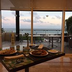 Buffet with a view