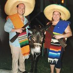 Us with Poncho the donkey