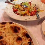 Salad and focaccia. Fresh, simple, tasty.