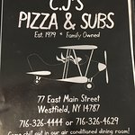 An impromptu stop on our summer vacation travels led us to CJ's Pizza. Service was friendly and