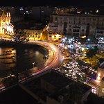 Balluta Square by night.