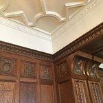 Detail in smaller wood panel meeting room