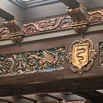 Ceiling detail in main lobby