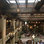 Ceiling detail in main lobby & overlook