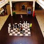 Upper level view of the chess game area