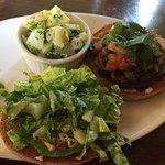 Portobello & 'Sausage' Burger (vegan)