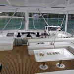 Catamaran upper deck