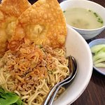 The best Pangsit Mie Ayam that I ever had in East Java