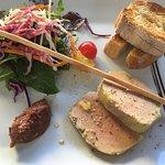 Entrée du menu à 24 euros - foie gras
