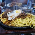 Its a very messy platter, but take my word for it - it's absolutly yummy. Just get stuck in