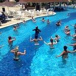 Aqua aerobics activity