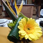 Fresh flowers at the Table in the Breakfast Room