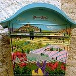 Detail, mailbox, St. Paul de Vance, France
