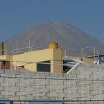 Mistí volcano from hotel terrace