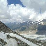 Aletsch glacier as seen from the Eggishorn