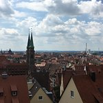 Nuremberg-view from the castle overlooking the Old Town