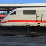 The train we took to Nuremberg- the ICE with speeds of up to 300 km/h-186 mp/h