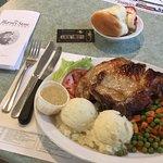 Large Pork Chop Dinner