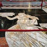 Part of the floor tiles