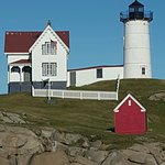 Cape Neddick Nubble Lighthouse ภาพถ่าย