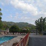 pool/parking lot