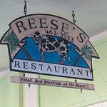 Sign at Reese's Restaurant