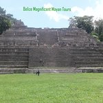"""This Massive structure known as """"Canna"""" meaning sky palace can be seen at Caracol ."""