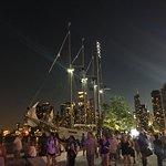 Nighttime ship rides.