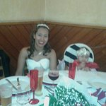 foi no meu casamento.