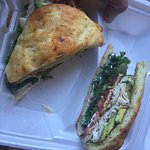 Sandwich from Gourmet Girls GF Bakery. Very good!