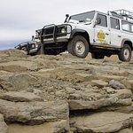 Camionetas de la excursion