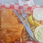 Fish and Chips diner. Extremely thick breading and not as much fish. Fries were gross..