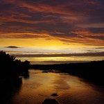 Coucher de soleil en juillet 2015. Photo de la Loire prise depuis le pont canal.