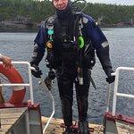 Finishing my dive on the Niagara II