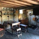 Inside one of the settler houses