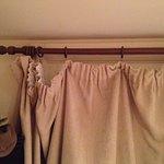 Shabby curtain.