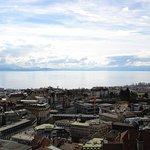 Vue depuis le clocher de la cathédrale de Lausanne